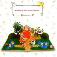 DIY Miniature Dollhouse Handcraft Project Doll House Garden Yard Educational Toys Birthday Gift for Children Kids Toddler