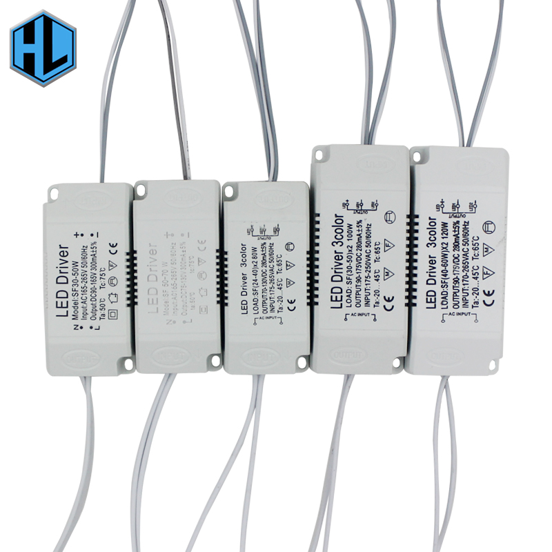 AC 220V LED Driver Replacement 8-120W Non-isolating Lighting Transformer Luminaire Driver Power Supply Adapter For LED Lamps