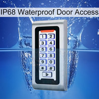 RFID Keypad Access Control System Waterproof IP68 Metal Case 125KHz Proximity Card Standalone Access Control With 2000 Users