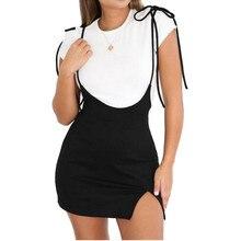 282c20cf53 Faldas de verano de las señoras de las mujeres Mini Falda corta estilo  Preppy cintura alta negro Stretch falda lápiz corto tiran.