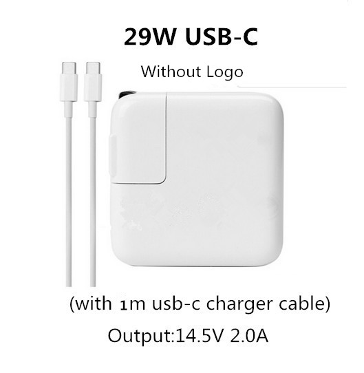 все цены на BINFUL 29W USB-C Power Adapter Charger With 1M Type-C Charge Cable For Apple Macbook 12 Inch (only Made in 2015)