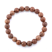 8 مللي متر الطبيعية ينجي الخشب مطرز مطاطا سوار للمرأة الرجال بوذا الصلاة سوار مجوهرات هدية