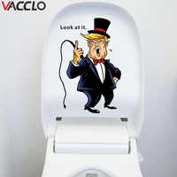 Vacclo Creative Toilet Sticker look at it Wall Sticker for Kids Room Living Room Home Decor Decal Poster Background Wallpaper