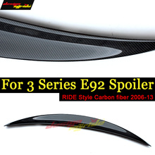 E92 Rear Spoiler Wing Lip Tail Ride style Carbon fiber For BMW E92 320i 323i 325i 328i 330i 335i 2Door Coupe Spoiler Wing 06-13