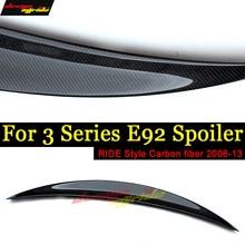 E92 Rear Spoiler Wing Lip Tail Ride style Carbon fiber For BMW 320i 323i 325i 328i 330i 335i 2Door Coupe 06-13