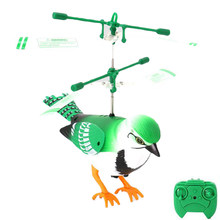 mini drone RC Toy Remote Electric Mini Bird Flying Bird Helicopter Flashing Lights Hand Controlled Aircraft for Children Gifts(China)