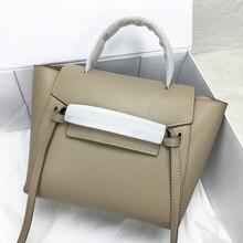 Kajie 2018 Trapeze Catfish Luxury Handbags Women Genuine Lea