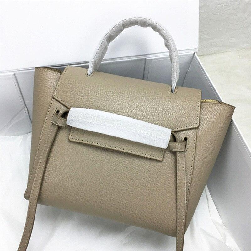 Kajie 2018 Trapeze Wels Luxus Handtaschen Frauen Aus Echtem Leder Schulter Tasche Damen Hand Taschen Designer Berühmte Marken Tote Tasche Phantasie Farben