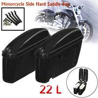 Motorcycle Saddlebags 22L Side Hard Trunk Luggage Tool Storage Suitcase for Honda/Harley/Yamaha/Suzuki