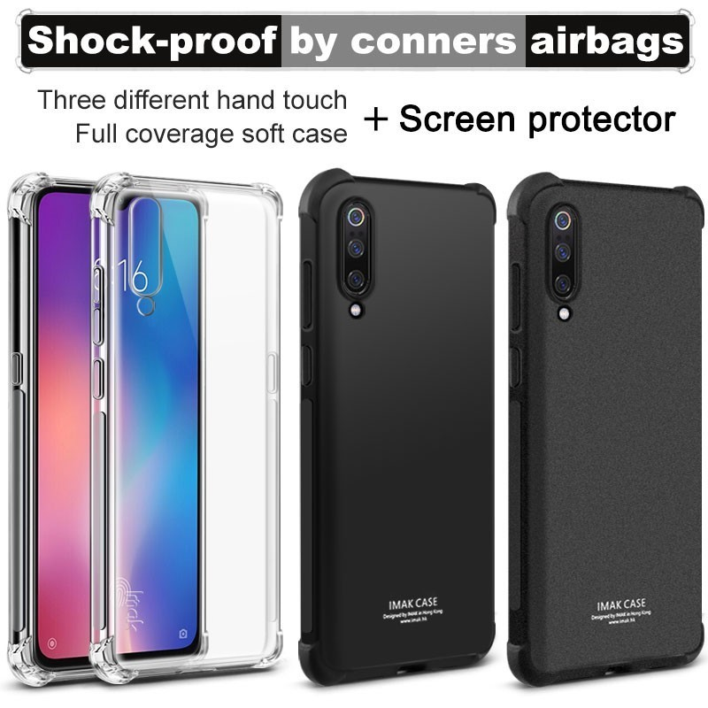 For Xiaomi Mi 9 SE Explorer Edition Clear Case Soft TPU Cover Screen Protector