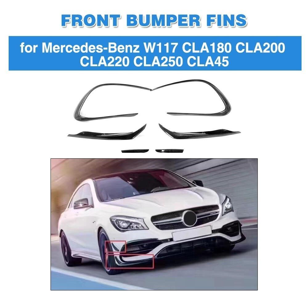 Car Vent Fender Trim For Mercedes Benz W117 CLA45 AMG 2017 2018 Base 4Matic Sedan 4 Door Carbon Fiber