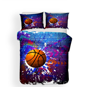 Image 2 - Bedding Set 3D Printed Duvet Cover Bed Set Basketball Home Textiles for Adults Lifelike Bedclothes with Pillowcase #LQ05