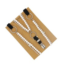 Korean Style Pearl belt sweet white clothes suspender fashion match 2cm width bow tie connection creative accessories gift