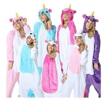 d3dcc6d77e Pijamas Mujer unicornio Pijama unicornio mapache Pijama mujer Onesie ropa  de dormir Kegurumi Pijama traje de Pijama par de pijamas