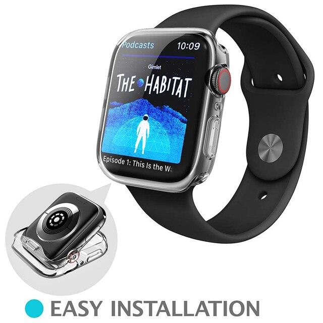 Transparente Abdeckung für Apple Uhr Serie 5 4 3 2 1 360 Volle Soft Clear Screen Protector Fall für iWatch 5 4 38MM 42MM 40MM 44MM