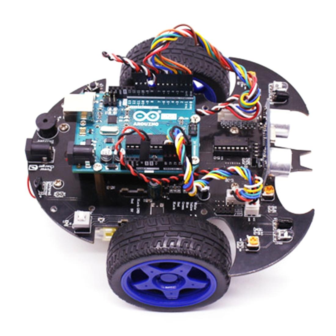 Kit de vapeur modèle de démarreur de voiture Robot intelligent Bat avec tutoriel jouet de tige électronique éducatif pour Arduino comprend carte mère R3 - 5