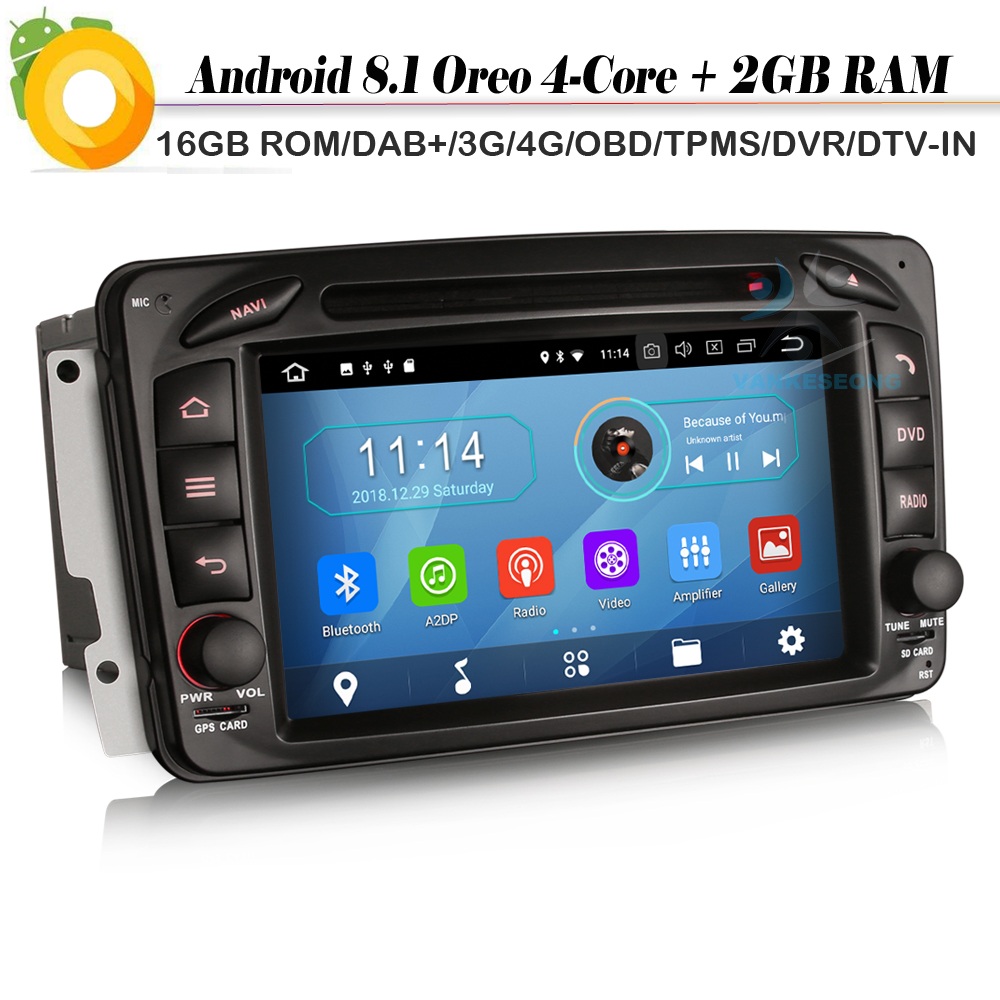 DAB+Sat Nav FOR Mercedes Benz Class C/G/CLK Vito Viano W463 W209 Android 8.1 Autoradio Car GPS Navigation player WiFi 4G DVR OBD