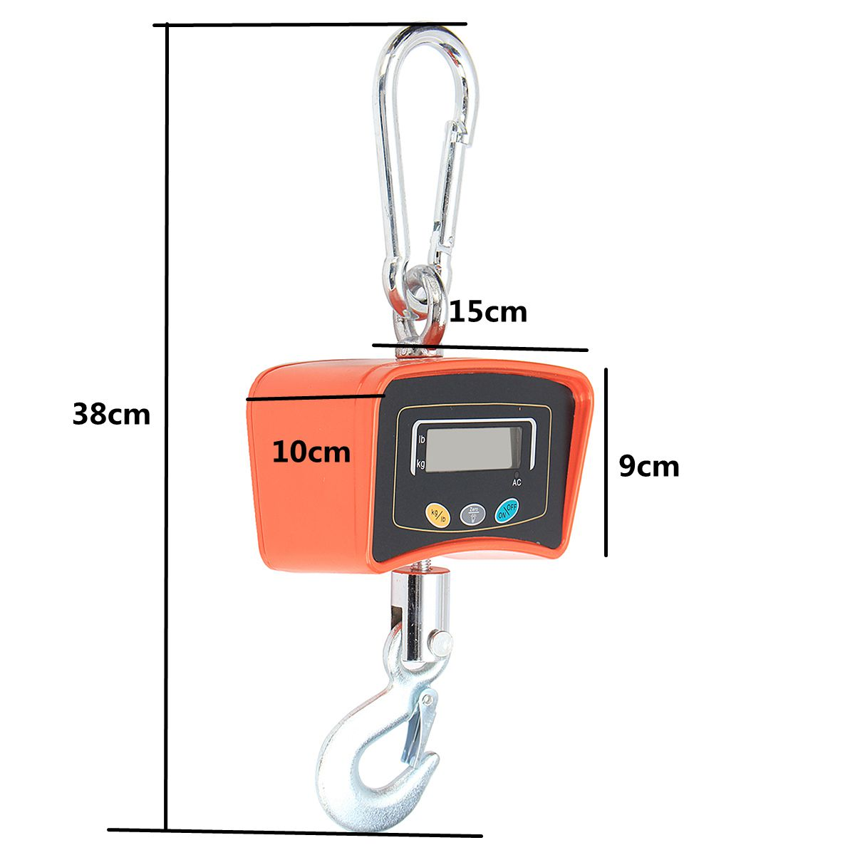 500KG/1100 LBS Digital Crane Scale 110V/220V Heavy Industrial Hanging Scale Electronic Weighing Balance Tools - 5