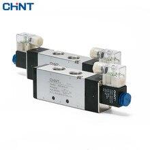 CHINT 220v Two Position Five Electromagnetism Valve24v 12v Reversing Valve 4V410-15 4v420-15