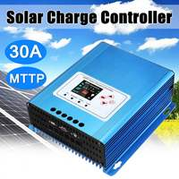 30A MPPT Solar Charge Controller LCD Display 12V/24V/48V Auto Battery Regulator Aluminium Alloy Over temperature Protection
