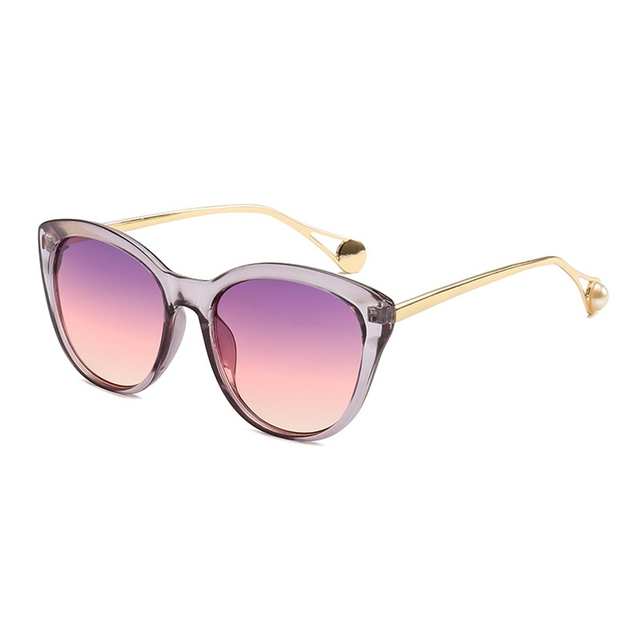 c509bf6859 Fashion Women Sunglasses 2019 Vintage Pearl Gold Metal Frame Sun Glasses  Luxury Brand Designer Sunglass Female Shades Eyewear