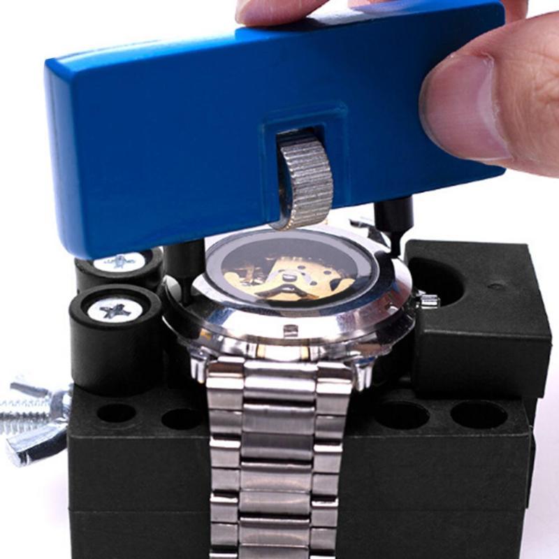 406 pièces/ensemble professionnel montre ouvreur de boîtier lien broche dissolvant Kit d'outils de réparation