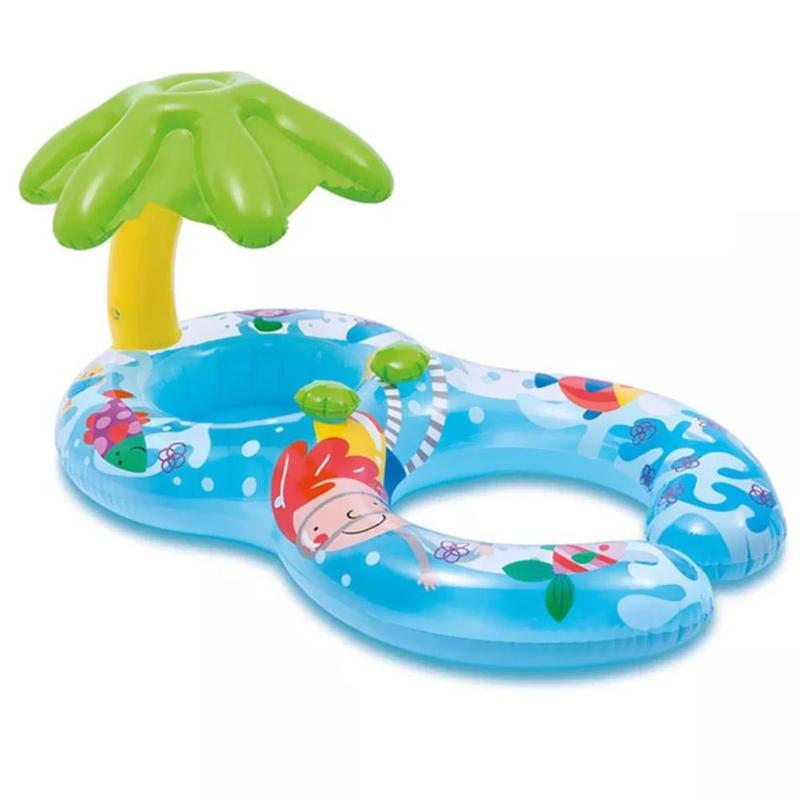 Parent-Child Inflatable Swimming Ring Swim Pool Circle Baby Beach Water Toy Inflatable Parent-Child Swimming Ring