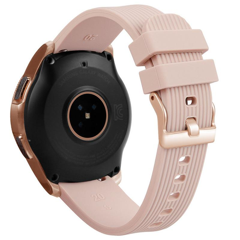 Image 2 - Silicone Bracelet Band 20MM Universal Wrist Strap Replacement Sports Smart Watch Watchband For Samsung Galaxy Long Lasting-in Smart Accessories from Consumer Electronics