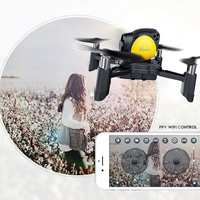 DIY Drone WIFI FPV 2MP Camera Altitude Hold One Key Return RC Battle Quadcopter Black with Yellow Stable Flight Lightweight
