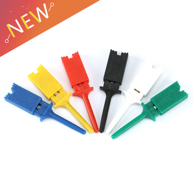 Sales Micro Insulated SMD IC Probe Clip Jumper Grabber Functional Mini Test Hook