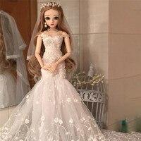 60 см BJD 1/3 девочки куклы игрушки игрушечные фигурки с свадебным платьем наряд крылья на обувь волосы Reborn BJD кукла свадебный подарок для дево