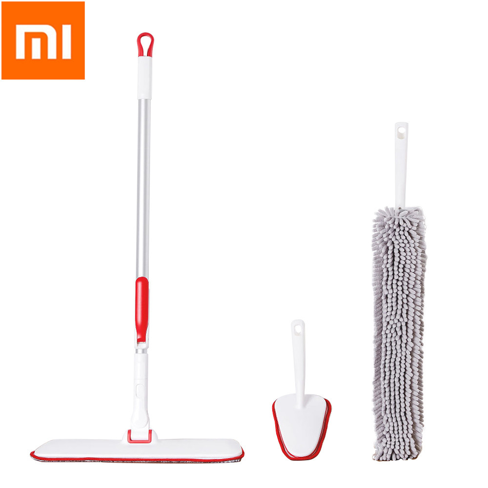 Xiaomi Mijia YJ Household Cleaning Slim Flat Mop Set Multiple Collection Lightweight Portable 360 Degree Rotate For Home OfficeXiaomi Mijia YJ Household Cleaning Slim Flat Mop Set Multiple Collection Lightweight Portable 360 Degree Rotate For Home Office