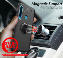 Case For Samsung A9 2018 A920F Case Silicone Cover For Samsung Galaxy A9 2018 SM-A920 Soft TPU Cases Magnetic Car Holder Ring case for samsung galaxy a9 2018 case electroplated glitter fish scale soft silicon phone cover for samsung a9 2018 a920 cases