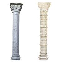 Moldes de plástico ABS para columna de hormigón romana, 25x350cm, molde del pilar europeo, moldes de construcción para jardín, villa, casa