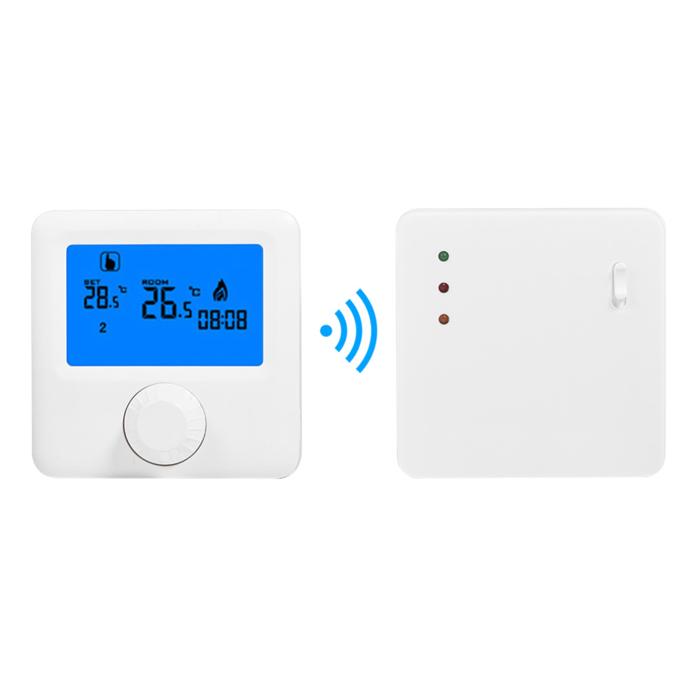 LCD Wireless Digital Thermostat RF Heating Programmable Thermostat Thermometer for Electric Heating System Wall mounted Thermost