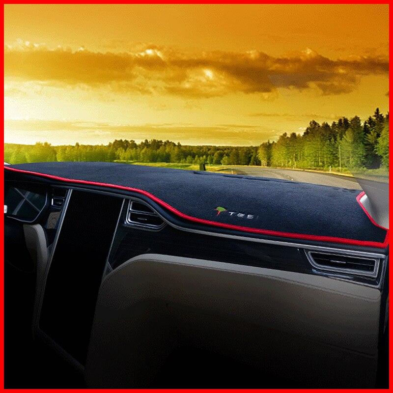 Un peu de changement voiture tableau de bord couverture tapis éviter pad de lumière Instrument plate-forme tapis de bureau pour Tesla MODEL S X