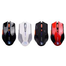 лучшая цена AZZOR Rechargeable Silent Wireless Optical Mouse Mute Button Noiseless Gaming Mouse With 2400dpi Built-in Battery For PC Laptop