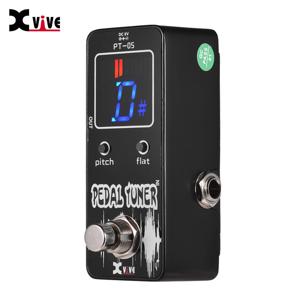 xvive pt 05 chromatic tuner pedal guitar pedal tuner with pitch calibration flat tuning full. Black Bedroom Furniture Sets. Home Design Ideas