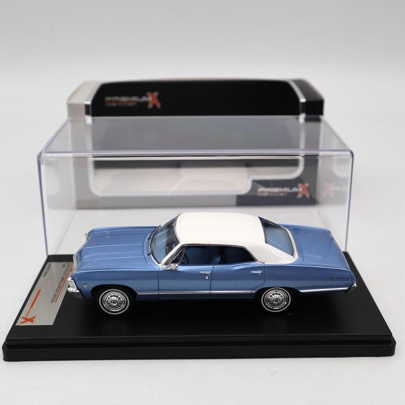 Premium X 1 43 Chevrolet Impala Sport Sedan 1967 Metallic Blue PRD559 Diecast Models Car Limited