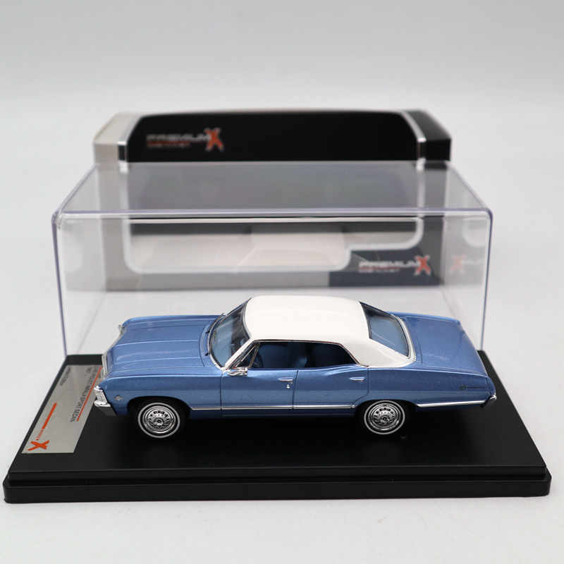 Premium X 1:43 Chevrolet Impala Sport Sedan 1967 Metallic Blue PRD559 Diecast Models Car Limited Edition Collection