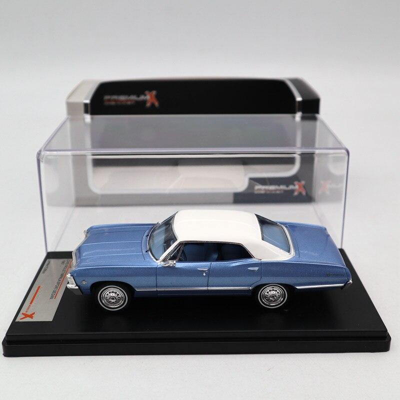 Premium X 1:43 Chevrolet Impala Sport Sedan 1967 Metallic Blue PRD559 Diecast รุ่นรถ Limited Edition Collection-ใน โมเดลรถและรถของเล่น จาก ของเล่นและงานอดิเรก บน   1