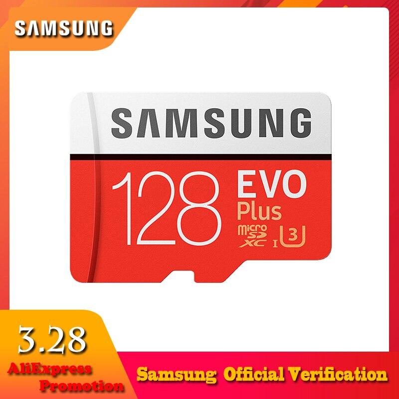 SAMSUNG Micro Cartão SD De 100 MB/s 256 GB 128 GB GB GB 4 32 64 K U3/U1 C10 classe 10 SDXC SDHC Cartão de Memória Flash microsd TF Cartão para o Telefone