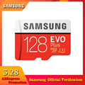 SAMSUNG Micro SD Card 100MB/s 256GB 128GB 64GB 32GB 4K U3/U1 C10 Class 10 Memory Card SDXC SDHC microsd Flash TF Card for Phone