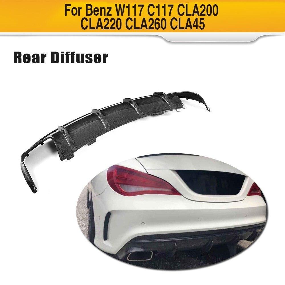 Pour Mercedes-Benz W117 CLA Sport CLA45 AMG CLA200 CLA250 Sport Pare-chocs Arrière Diffuseur Spoiler En Fiber De Carbone Pare-chocs Lèvre