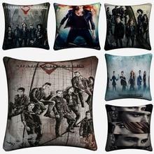Shadowhunters The Mortal Instruments Cotton Linen Cushion Covers 45x45cm Soft Throw Pillow Case For Sofa Almofada Home Decor