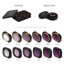 DJI OSMO cep kamera Lens filtresi ND CPL filtreler kiti OSMO cep Gimbal aksesuarları Polar ND4 ND8 ND16 32 UV manyetik