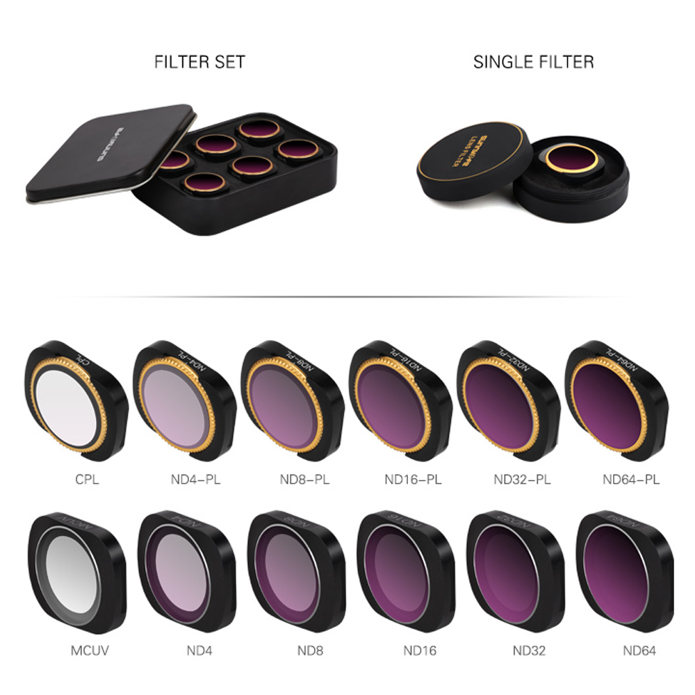 For DJI OSMO POCKET Camera Lens Filter ND CPL Filters Kit For OSMO Pocket Gimbal Accessories Polar ND4 ND8 ND16 32 UV Magnetic