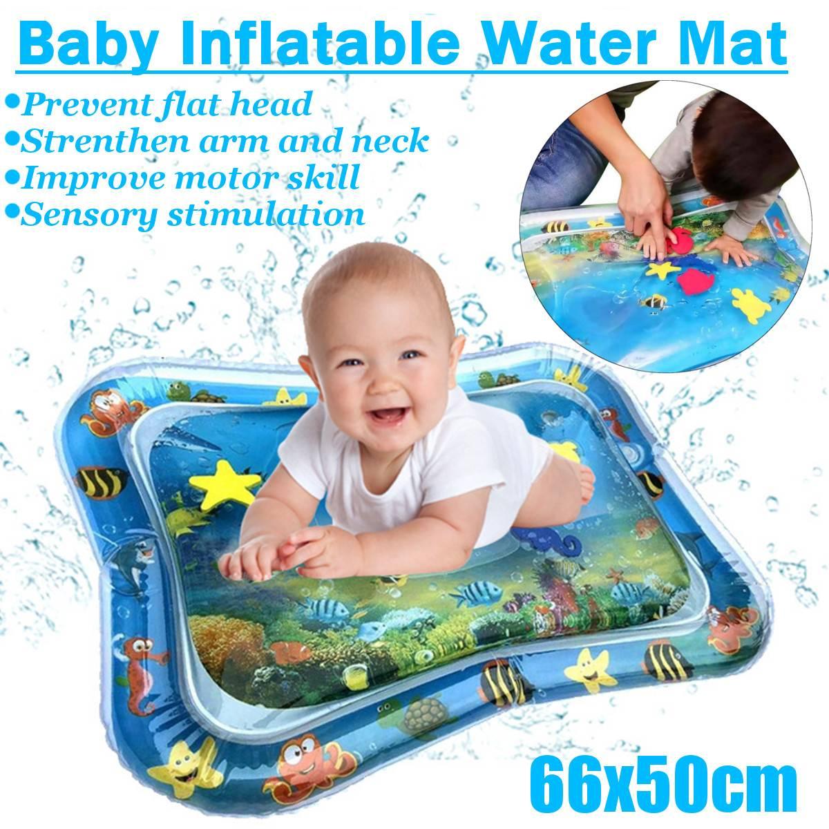 66*50 cm bébé enfants eau jeu pad gonflable épaississement PVC enfants amusement activité jeu bébé eau jeu pad bébé temps