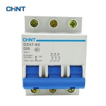 CHINT D Type 25A Circuit Breaker DZ47-60 3P D25