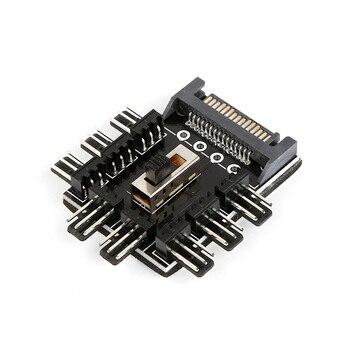 Новый ПК 1 до 8 4Pin Molex охладитель охлаждающий вентилятор концентратор сплиттер кабель PWM 3 pin блок питания Регулятор скорости адаптер для PC Mining